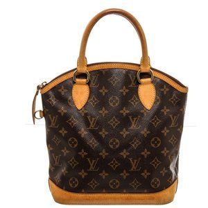 Louis Vuitton Canvas Leather Lockit Vertical Bag